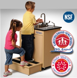 Child Height with Single Stainless Steel Basin <br>