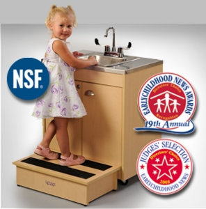 Child Height with Single Stainless Steel Basin and Top <br>