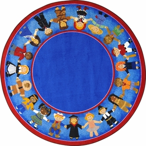 """Children of Many Cultures - 13'2"""" Round"""