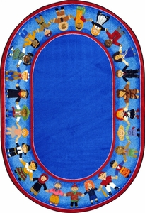 "Children of Many Cultures - 7'8""x10'9"" Oval"