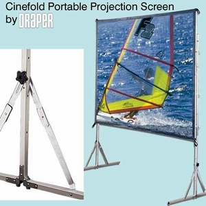Cinefold Portable Screens with Wheels, Flexible White Front Projection Surface, and Cineflex Rear Projection Surface