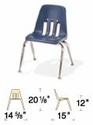 Classic Series Stack Chair Model 9000-12