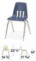 Classic Series Stack Chair Model 9000-14