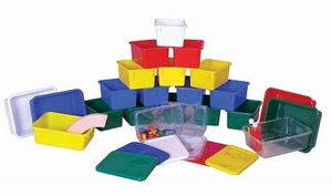 Color Cubby Rectagular Trays