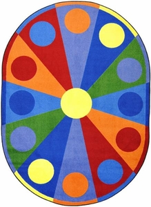 "Color Wheel - 10'9""x13'2"" Oval"