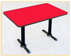 Correll T-Base Legs Rectangular Cafe Tables<br><br>