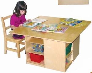 Cubby Table and Storage<br>