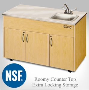 Deep Single Stainless Steel Basin with Extra Locking Storage <br>