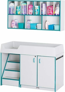 Diaper Changer and Storage Shelf