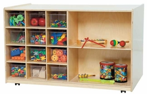 Double-Sided Mobile Storage w/ Clear Trays<br>