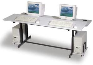 Double Split Level Computer Table
