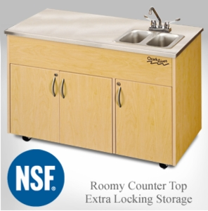 Double Stainless Steel Basin with Extra Locking Storage <br>