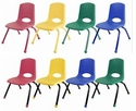 ECR4KIDS Chairs with Painted Legs
