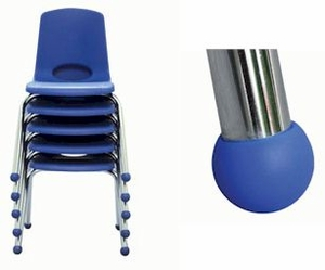 ECR4KIDS Chrome Stack Chairs