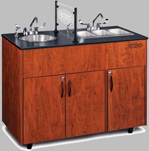 Extra Storage with Four Stainless Steel Basins <br>