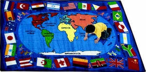"Flags of the World - 5'4"" x 7'8"" Rectangle"