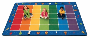 "Fun With Phonics Seating Rug 7'6"" x 12'"