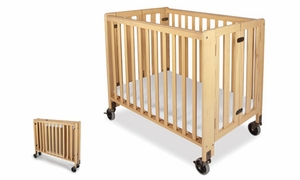 Hideaway  Compact Size Folding Crib<br>