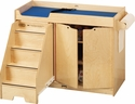 Infant and Toddler Changing Table w/ Stairs Left