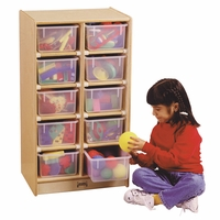 Jonti-Craft 10 Cubbie-Tray Mobile Unit