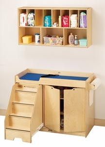 Jonti-Craft® Changing Table - with Stairs Combo - Left