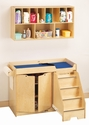 Jonti-Craft� Changing Table - with Stairs Combo - Right