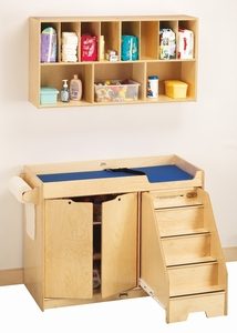 Jonti-Craft® Changing Table - with Stairs Combo - Right