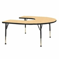 "Mahar 60"" x 66""  Horseshoe Activity Table"