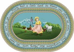 "Mary Had a Little Lamb - 3'10"" x 5'4"" Oval"