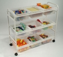 Multi-Purpose Cart with clear open tubs <br>