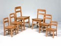 Oak Classroom Chairs