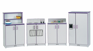 Rainbow Accents® Play Kitchen 4 Piece Set