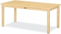 Large Rectangle Maple Table