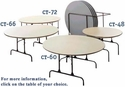 Round ABS Plastic Folding Tables