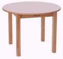 "30"" Round Wood Table White"