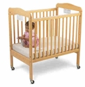 Serenity Fixed Side Compact Crib Clearview End<br>