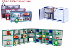 "Single Sided Storage Units (on 2"" Casters)"