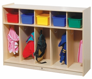 Toddler Five Section Locker