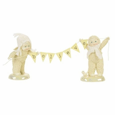 "Department 56 SnowDream - ""Believe Figure"" - Set of 2"