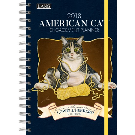 "2018 Lang Engagement Planner - ""American Cat"""