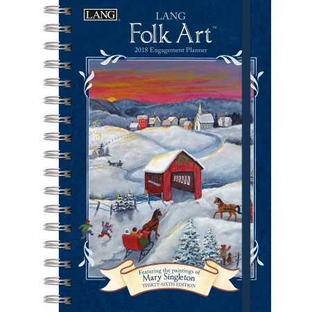 "2018 Lang Engagement Planner - ""Lang Folk Art"""