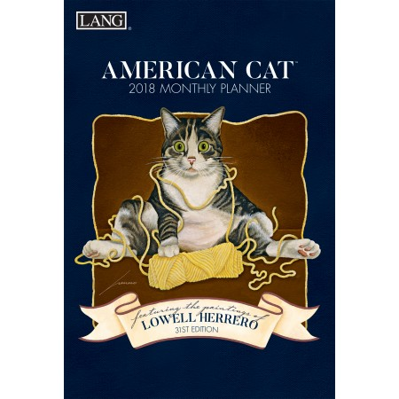 "2018 Lang Monthly Planner - ""American Cat"""