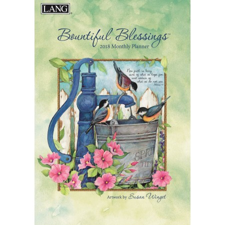 "2018 Lang Monthly Planner - ""Bountiful Blessings"""