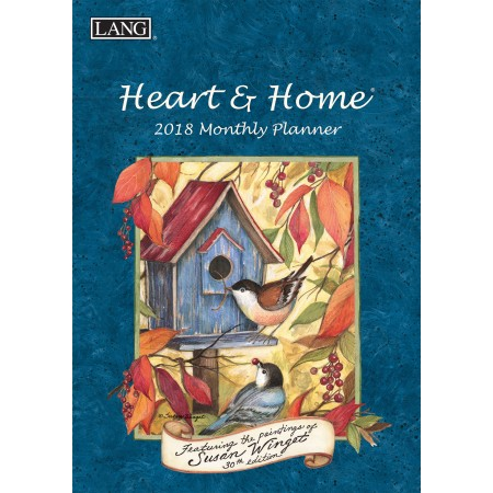 "2018 Lang Monthly Planner - ""Heart & Home"""