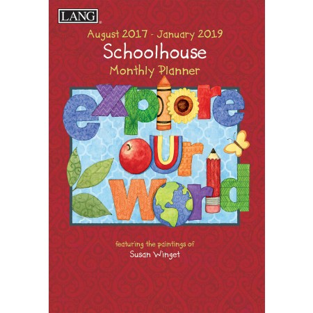 "2018 Lang Monthly Planner - ""Schoolhouse"""