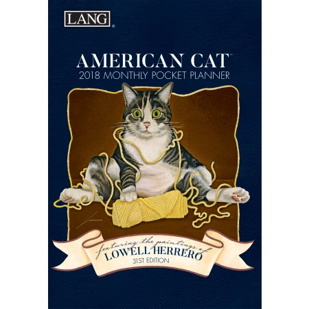 "2018 Lang Pocket Planner - ""American Cat"""