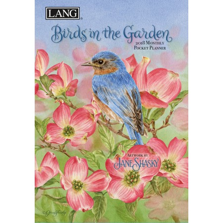"2018 Lang Pocket Planner - ""Birds In The Garden"""