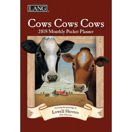 "2018 Lang Pocket Planner - ""Cows Cows Cows"""