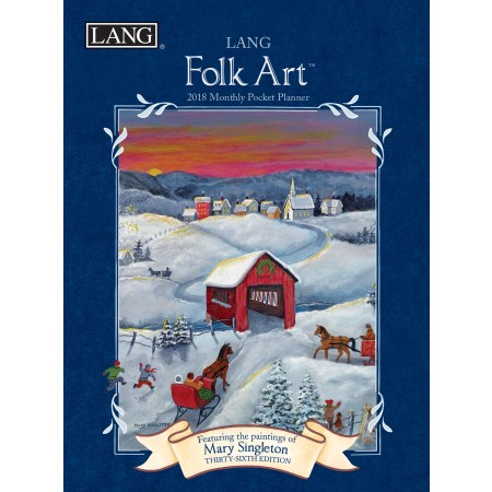 "2018 Lang Pocket Planner - ""Lang Folk Art"""