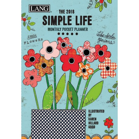 "2018 Lang Pocket Planner - ""Simple Life"""
